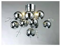 full size of floating glass bubble cloud chandelier hanging ball light fixture contemporary 6 chrome