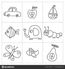 Kleurplaat Paginapictogrammen Voor Kinderen Stockvector Webmuza