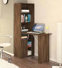 office table design. Foldable Office Table Study Desk With Multipurpose Cabinet In Walnut Brown Finish By Folding . Design