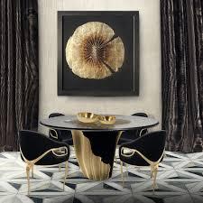 york yasmine round luxury dining table