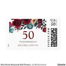 boho bordo burgundy red flowers 50th birthday pose boho bordo burgundy red flowers 50th birthday perfect for invitations rsvp thank you cards etc can