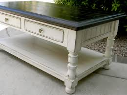 little bit of paint refinished coffee table painting black dsc