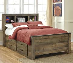 full bed with storage signature design by rustic look bookcase under \u2013 liukasta.info