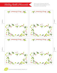 Place Card Printable Template Free Place Card Template Christmas Place Cards Christmas