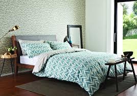 dhurri super king size duvet set by scion  aqua blue  wallpaper