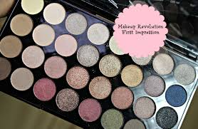 first impression makeup revolution ultra 32 shade eyeshadow palette flawless makeup with raji you
