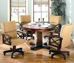 dining room chairs with casters dining table on casters chairs on casters for dining table beautiful dining room chairs with casters