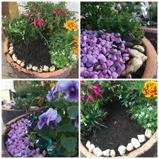 diy fairy garden in a pot