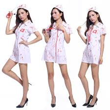 Special Offer Free Shipping Halloween Costume Adult Female Nurse Sexy Nurse  Horror Bloody Camouflage Clothing Doctor Role Play