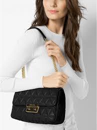 black michael kors sloan large quilted leather shoulder bag bag