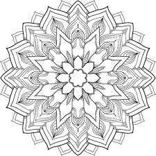 Flower Mandala Coloring Pages 20 E Power A Free Printable Page Many