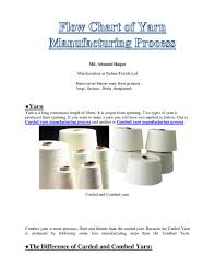 Flow Chart Of Combed Yarn Pdf Flow Chart Of Yarn Manufacturing Process20190820 77129
