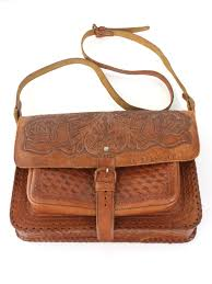 1980 s made in el salvador womens tooled leather hippie purse 25 00 in stock item no 345194