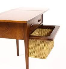 excited to share the latest addition to my etsy danish mid century sewing table with drop leaf and under basket in teak 1960s s etsy me 2i89zxw