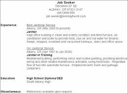 Janitor Sample Resume Sample Cover Letter For Custodian Job combination janitor  resume sample