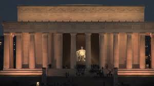 lincoln memorial building at night. lincoln memorial building at night