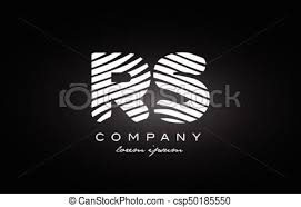 Rs アルファベット S R 黒 手紙 ロゴ デザイン 白 アイコン
