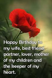 Happy Birthday Wife Quotes Magnificent Birthday Wishes For Wife From Husband Quotes Messages Images
