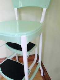 vintage cosco step stool chair vintage red kitchen step stool retro mint green old cosco step