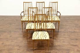 keller oak dining room set. midcentury modern set of 6 oak 1960 vintage dining chairs, signed keller room 0