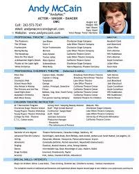 Child Acting Resume Template Awesome Theatre Director Resume