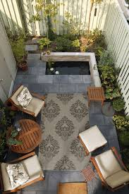 Small Outdoor Space Brought Together By A Surya Rug From The Outdoor Patio Ideas For Small Spaces