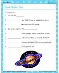 the solar system quiz solar system printable for kids the solar system quiz