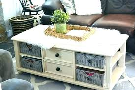baskets under coffee table pigeon basket for hemnes un basket coffee table baskets under