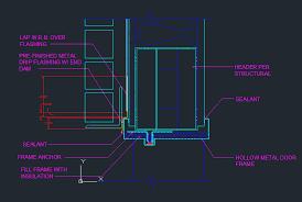 exterior door head brick on steel lintel cad files dwg files plans and details