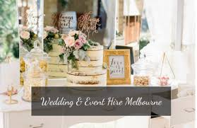 wedding and event hire melbourne