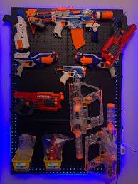 Diy nerf gun storage wall. Diy Nerf Gun Wall Living Like Kingstons