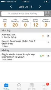 first a look at the official weight watchers app on ios as a point of reference