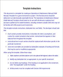 Instruction Manual Template 8 Instruction Manual Templates Free Sample Example Format
