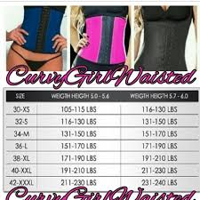 Size Chart For The Waist Trainers And Also Some Depop