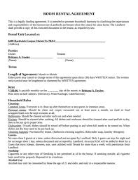 Room For Rent Contract Room Rental Agreement Template Free Download Create Edit Fill