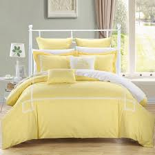 yellow white color quilt sets luxury bedding softer quilt set big size in rectangle and square pillows also