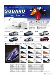 Subaru Colours Chart Any Stubby Aerial Recommendations For 2015 Xt Subaru