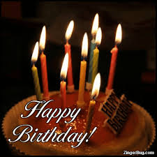 animated birthday cake with candles. Birthday Candle GIF To Animated Cake With Candles