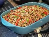 barley and red lentil pilaf