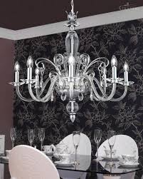 120 ch 8 chrome crystal chandelier contessa chandeliers