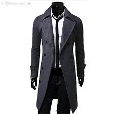 2018 fall men long peacoat winter down jacket mens coat male camel black gray wool overcoat manteau mc056 from matilian 47 43 dhgate com