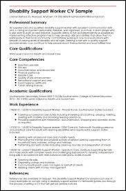 Care Worker Resume Disability Support Worker Cv Sample Myperfectcv