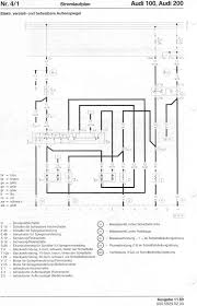 audi 100 200 factory wiring diagrams 4 electrically moveable and heated mirrors from 7 89