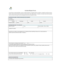 Free Incident Report Template Police Accident Car Sample