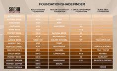 Foundation Shade Comparison Chart 7 Best Foundation Shade Match Images Foundation Skin