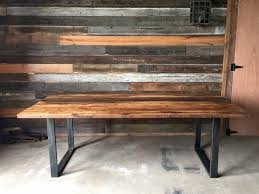 excellent reclaimed wood and metal dining table viridiantheband within wood and metal dining table attractive