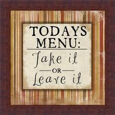 Kitchen framed art Primitive Contemporary Kitchen Framed Wall Art Today Menu Take It Or Leave Cor Sign Print 039 Father Of Trust Designscreative Modern Designs Incredible Kitchen Framed Wall Art Dining Room Print Modern Set Of