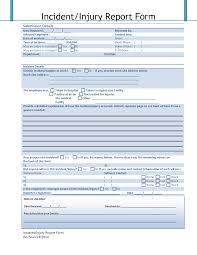 Effective Accident Injury Report Form Template With Blue