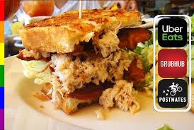 featured item crab meat sandwich