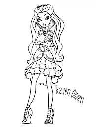 Kids N Fun Kleurplaat Ever After High Raven Queen
